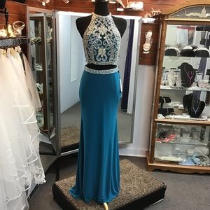 Clarisse 3006 Teal/Silver size 10